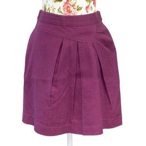 3/$35 Anthropologie Tabitha Purple Pleated Skirt
